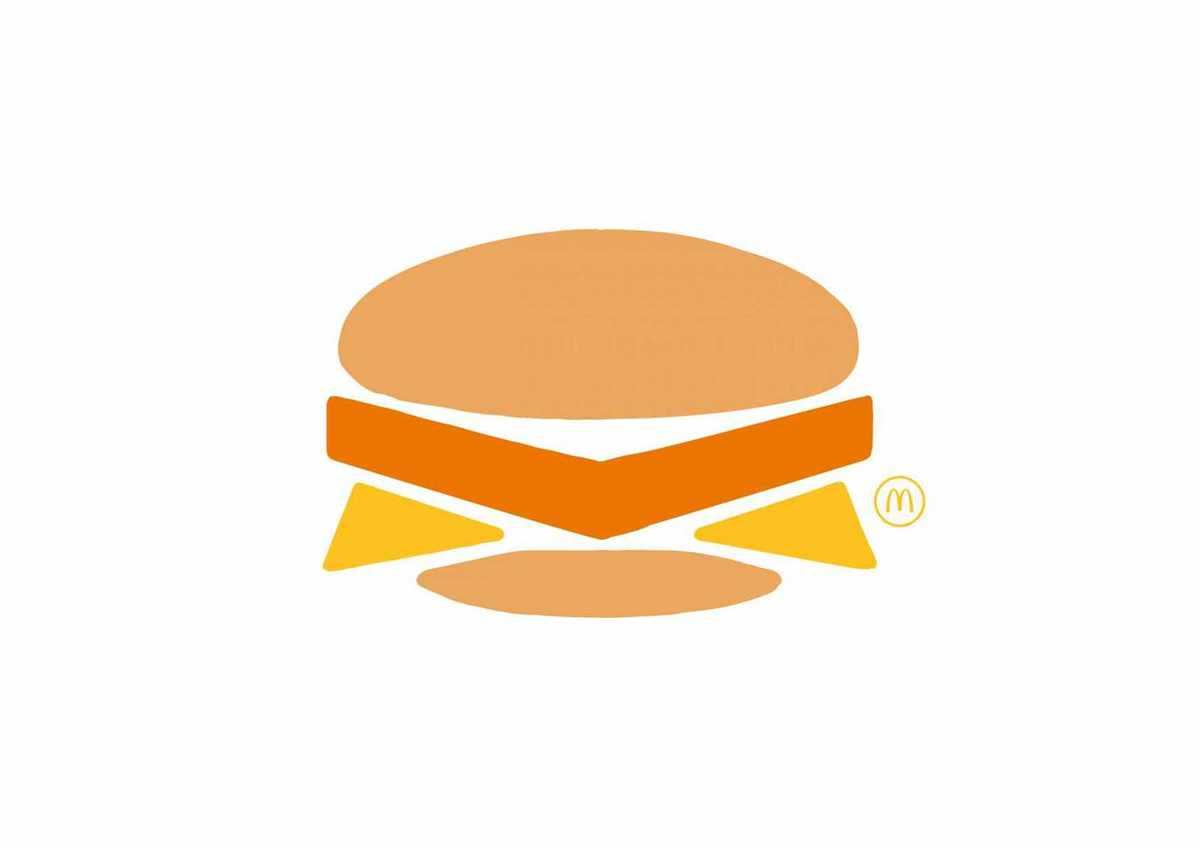 Mc Donald Filet-o-Fish Hamburger Minimaliste