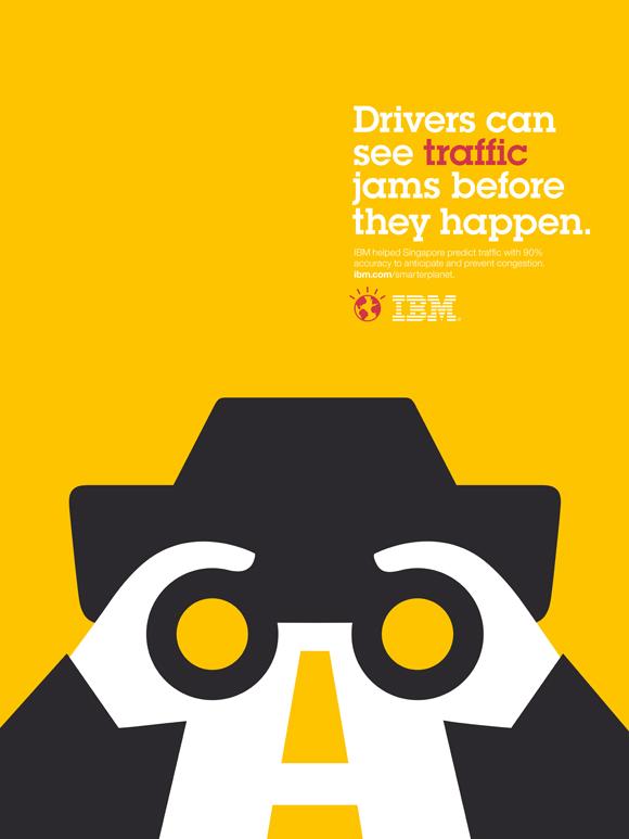 IBM affiche graphisme minimaliste