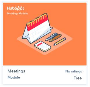 Hubspot meetings module