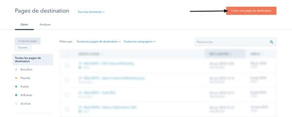 Pages de destination _HubSpot copie