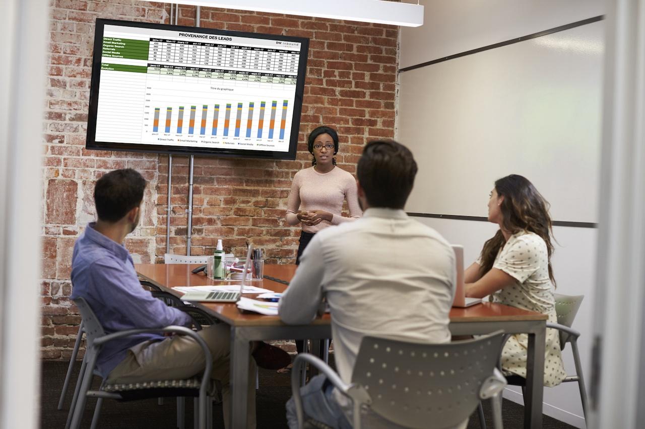 présentation réunion reporting génération de leads